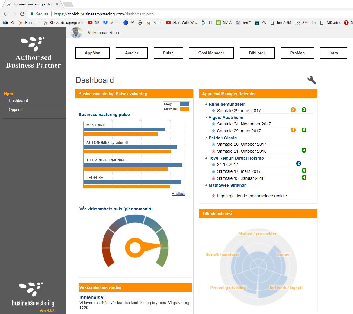 Toolkit dashboard