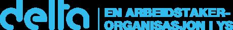 Delta logo med tilleggsinfo